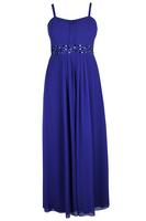 Lovedrobe Blue Jewel Trim Maxi Dress